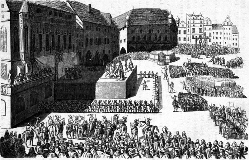 Poprava 27 českých pánů naStaroměstském náměstí